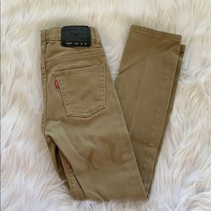 Levi's boys 510 Skinny Tan Jeans Size 10